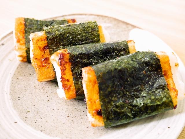 雲丹醤油磯辺餅
