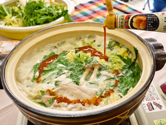 雲丹醤油豆乳鍋